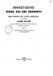 Dissertazione circa gli Dei Consenti e loro portico sul Clivo Capitolino