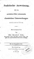 Praktische Chemie f  r Staats  rzte  1 PDF