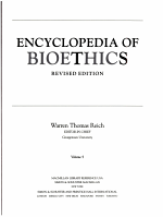 Encyclopedia of Bioethics PDF