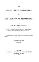 The Literary Life and Corrispondence of the Countess of Blessington R  R  Madden PDF