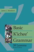Basic K ichee  Grammar PDF