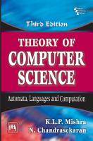 Theory of Computer Science PDF