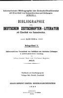 Bibliographie der deutschen Zeitschriftenliteratur PDF
