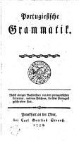 Portugiesische Grammatik PDF