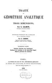Traité de géométrie analytique à trois dimensions: traduit sur la 4. éd, Volume3