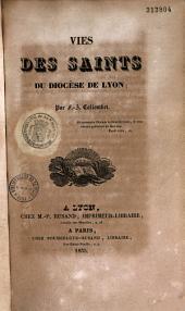 Vies des Saints du diocèses de Lyon