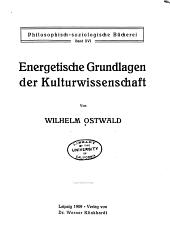 Energetische grundlagen der kulturwissenschaft