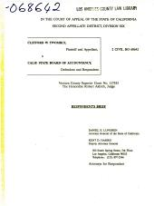 California. Court of Appeal (2nd Appellate District). Records and Briefs: B068642, Respondent Brief
