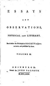 Essays and Observations, Physical and Literary: Volume 3