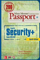 Mike Meyers    CompTIA Security  Certification Passport  Fourth Edition  Exam SY0 401  PDF