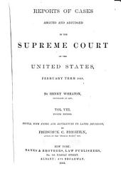 United States Reports: Cases Adjudged in the Supreme Court, Volume 21