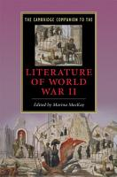 The Cambridge Companion to the Literature of World War II PDF
