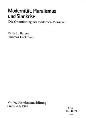 Modernit  t  Pluralismus und Sinnkrise PDF