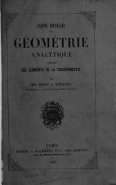 Leçons nouvelles de géometrie analytique précédées des éléments de la trigonométrio