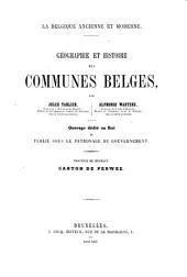 Geographie et histoire des communes Belges: Province de Brabant. Arrondissement de Nivelles, Volume2