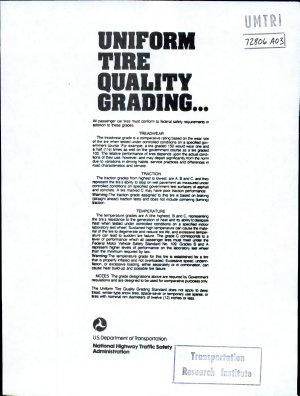 Uniform Tire Quality Grading  1989