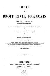 Cours de droit civil français: Volume 3