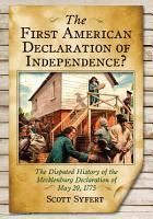 The First American Declaration of Independence  PDF
