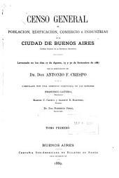 Crónica abreviada de la ciudad, por M.A. Pelliza. Estudio topográfico, por Alberto B. Martinez. El clima y las condiciones higiénicas, por el Dr. Don Pedro N. Arata