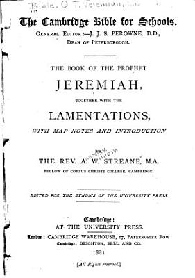 The Book of the Prophet Jeremiah PDF