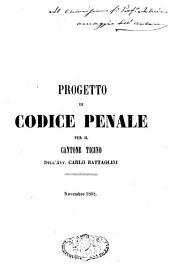 Progetto di Codice Penale per il Cantone Ticino