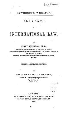 Elements of International Law PDF