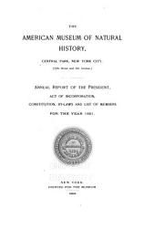The ... Annual Report of the American Museum of Natural History: Volumes 23-27