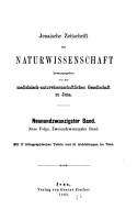 Jenaische Zeitschrift f  r Naturwissenschaft PDF