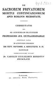 De sacrorum privatorum mortui continuandorum apud Romanos necessitate