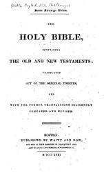 The Holy Bible Containing The Old And New Testaments According To The Authorized Version  Book PDF
