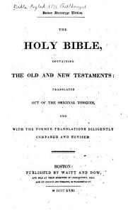 The Holy Bible  Containing the Old and New Testaments  According to the Authorized Version     PDF