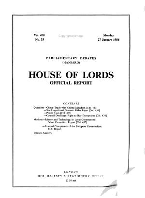 The Parliamentary Debates (Hansard), Official Report, 5th Series