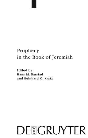 Prophecy in the Book of Jeremiah PDF