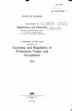 A Summary of the Laws Relating to the Licensing and Regulation of Professions  Trades and Occupations  1918 PDF