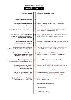 The International Journal of Prosthodontics PDF