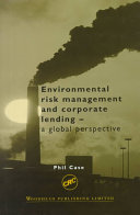 Environmental Risk Management and Corporate Lending PDF