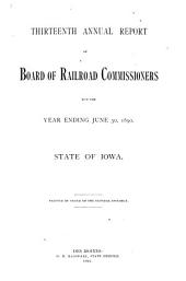 Annual Report - Iowa State Commerce Commission: Volume 13