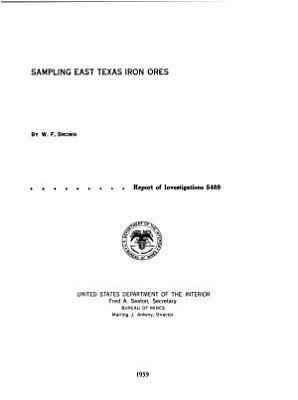 Sampling East Texas Iron Ores PDF