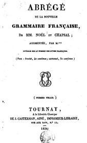 Abrégé de la nouvelle grammaire française