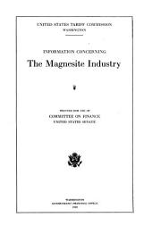 Information Concerning the Magnesite Industry
