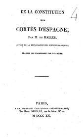 De la constitution des Cortès d'Espagne