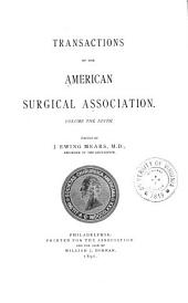 Transactions of the American Surgical Association: Volume 9