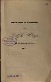 Danktoon en heilbede der Leydsche Weezen, bij den aanvang des jaars 1841