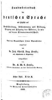 Handwörterbuch der deutschen Sprache: Band 1