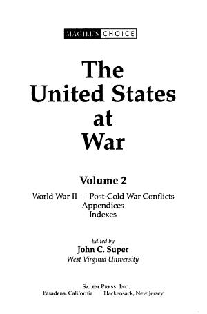 The United States at War  World War II