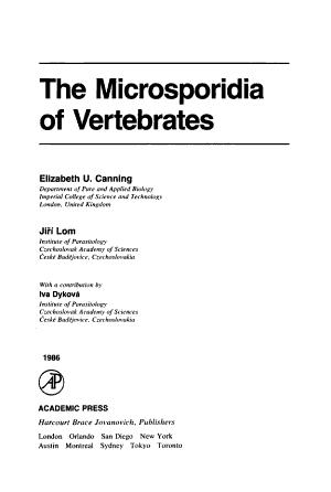 The Microsporidia of Vertebrates PDF
