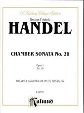 Chamber Sonata, No. 20, Op. 1-19: String - Cello and Piano