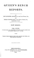Reports of Cases Argued and Determined in the English Courts of Common Law PDF