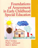 Foundations of Assessment in Early Childhood Special Education Book