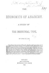 The Economics of Anarchy: A Study of the Industrial Type
